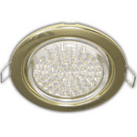 Ecola GX53 H4 Downlight without reflector_gold (светильник) 38x106 - 10 pack  FG5310ECB