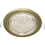 Ecola GX53 H4 Downlight without reflector_gold (светильник) 38x106 - 2pack FG53P2ECB