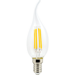 Ecola candle   LED  5,0W  220V E14 4000K 360° filament прозр. нитевидная свеча на ветру (Ra 80, 100 Lm/W) 125х37 N4YV50ELC