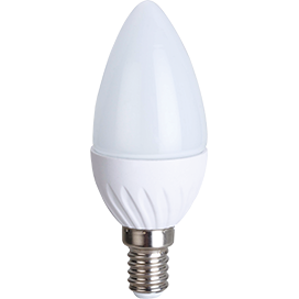 Ecola Light candle   LED  5,0W 220V E14 2700K свеча 100x37 C4TW50ELC