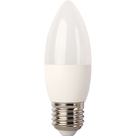 Ecola Light candle   LED  7,0W 220V E27 4000K свеча (композит) 103x37 C7TV70ELC