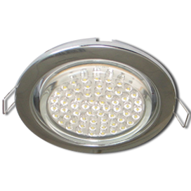 Ecola GX53 H4 Downlight without reflector_chrome (светильник) 38x106 - 10 pack FC5310ECB