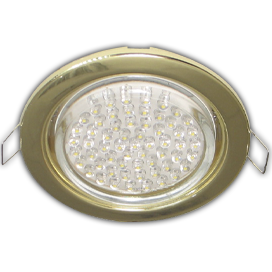 FG5310ECB Ecola GX53 H4 Downlight without reflector_gold (светильник) 38x106 - 10 pack