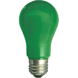 Ecola classic   LED color  8,0W A55 220V E27 Green Зеленая 360° (композит) 108x55 K7CG80ELY