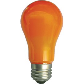 K7CY80ELY Ecola classic   LED color  8,0W A55 220V E27 Orange Оранжевая 360° (композит) 108x55