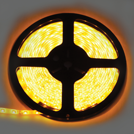 S20Y05ESB Ecola LED strip 220V STD  4,8W/m IP68 12x7 60Led/m Yellow желтая лента  20м.