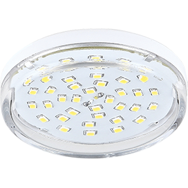 Ecola Light GX53 LED  8,0W Tablet 220V 2800K 27x75 прозрачное стекло 30000h T5TW80ELC